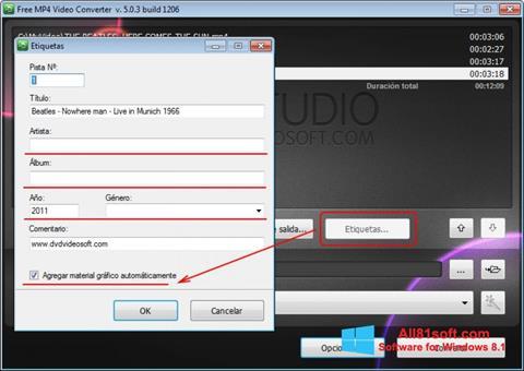 Captură de ecran Free MP4 Video Converter pentru Windows 8.1