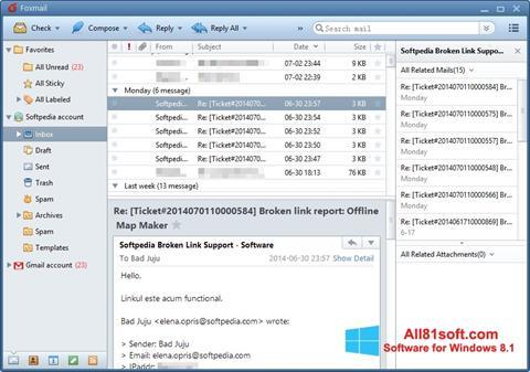 Captură de ecran FoxMail pentru Windows 8.1