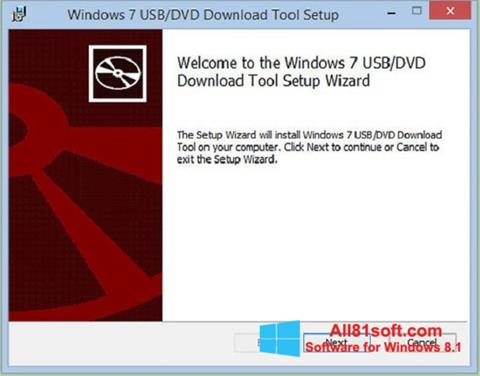 Captură de ecran Windows 7 USB DVD Download Tool pentru Windows 8.1