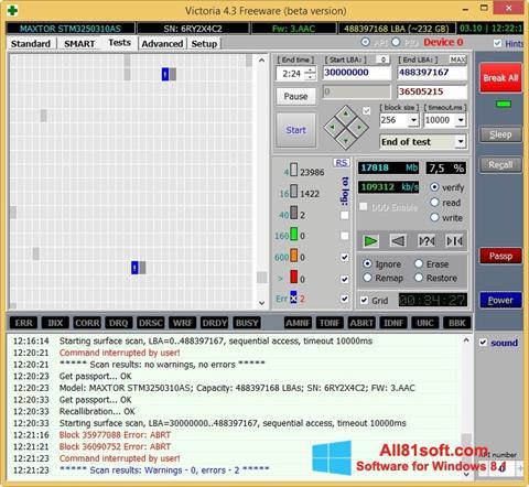 Captură de ecran Victoria pentru Windows 8.1