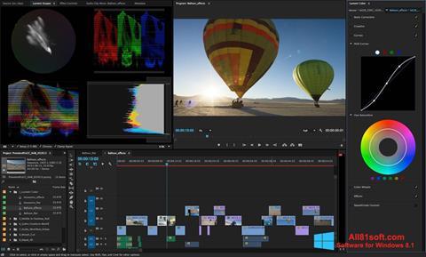 Captură de ecran Adobe Premiere Pro pentru Windows 8.1