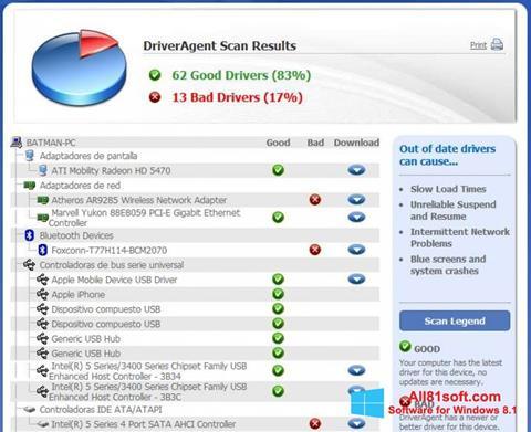 Captură de ecran DriverAgent pentru Windows 8.1