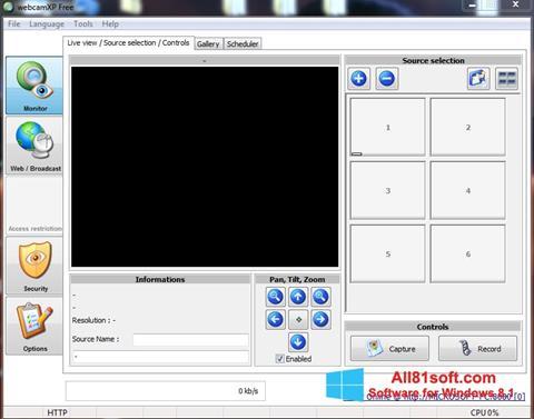 Captură de ecran webcamXP pentru Windows 8.1