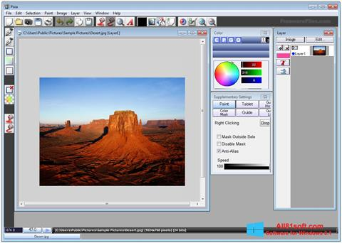 Captură de ecran Pixia pentru Windows 8.1