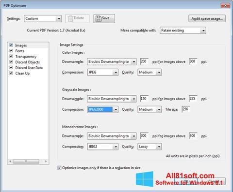 Captură de ecran Adobe Acrobat Pro DC pentru Windows 8.1