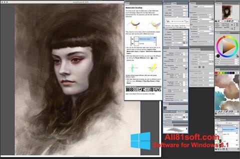 Captură de ecran Corel Painter pentru Windows 8.1