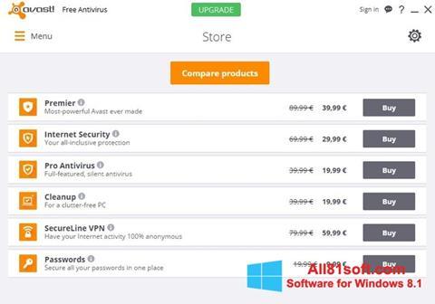 Captură de ecran Avast Free Antivirus pentru Windows 8.1