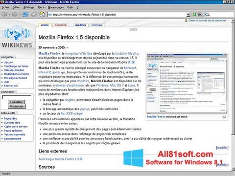 Captură de ecran Mozilla Firefox pentru Windows 8.1