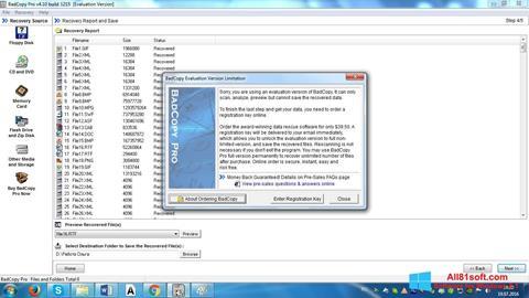 Captură de ecran BadCopy Pro pentru Windows 8.1