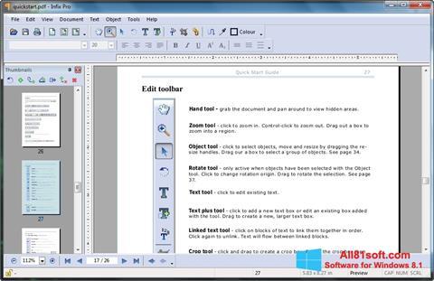 Captură de ecran Infix PDF Editor pentru Windows 8.1