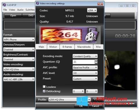 Captură de ecran XviD4PSP pentru Windows 8.1
