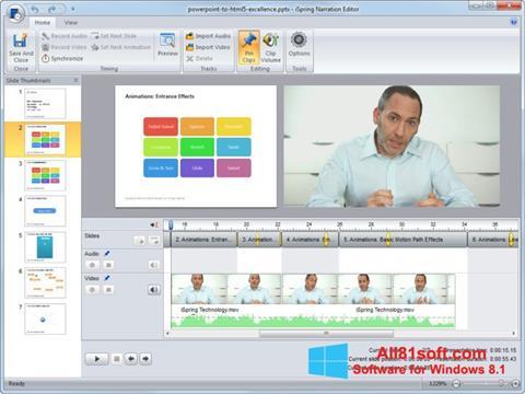 Captură de ecran iSpring Free pentru Windows 8.1
