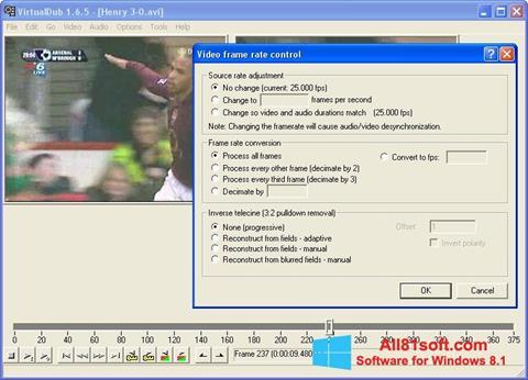 Captură de ecran VirtualDubMod pentru Windows 8.1