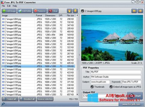 Captură de ecran JPG to PDF Converter pentru Windows 8.1