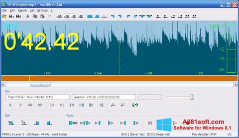 Captură de ecran mp3DirectCut pentru Windows 8.1