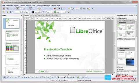 Captură de ecran LibreOffice pentru Windows 8.1
