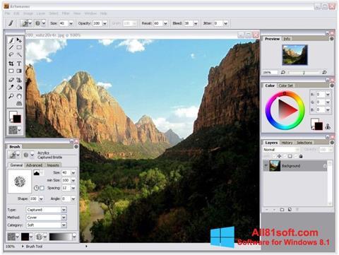 Captură de ecran Artweaver pentru Windows 8.1