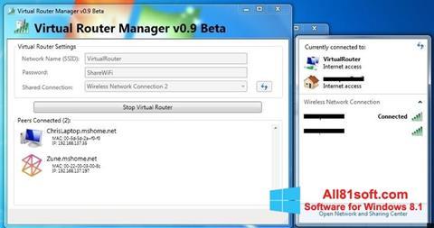 Captură de ecran Virtual Router Manager pentru Windows 8.1