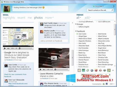 Captură de ecran Windows Live Messenger pentru Windows 8.1