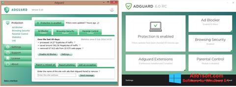 Captură de ecran Adguard pentru Windows 8.1