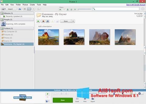 Captură de ecran Picasa pentru Windows 8.1