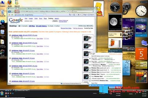 Captură de ecran Google Desktop pentru Windows 8.1