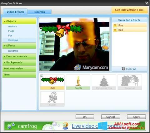Captură de ecran ManyCam pentru Windows 8.1