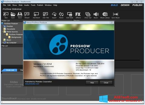 Captură de ecran ProShow Producer pentru Windows 8.1