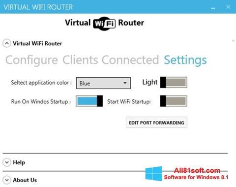 Captură de ecran Virtual WiFi Router pentru Windows 8.1