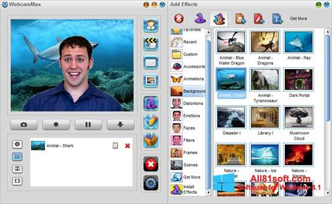 Captură de ecran WebcamMax pentru Windows 8.1