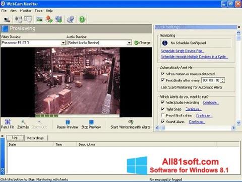 Captură de ecran WebCam Monitor pentru Windows 8.1