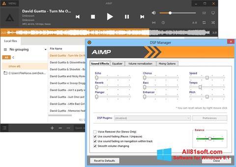 Captură de ecran AIMP pentru Windows 8.1