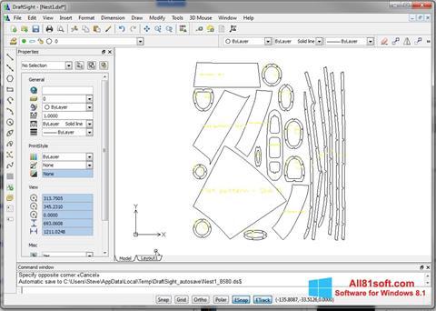 Captură de ecran DraftSight pentru Windows 8.1
