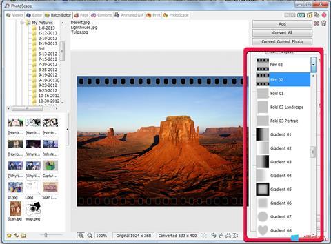 Captură de ecran PhotoScape pentru Windows 8.1
