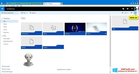 Captură de ecran OneDrive pentru Windows 8.1