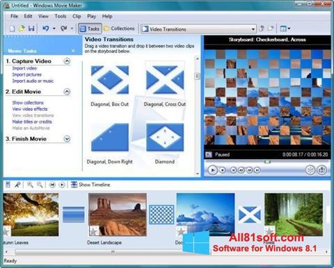 Captură de ecran Windows Movie Maker pentru Windows 8.1