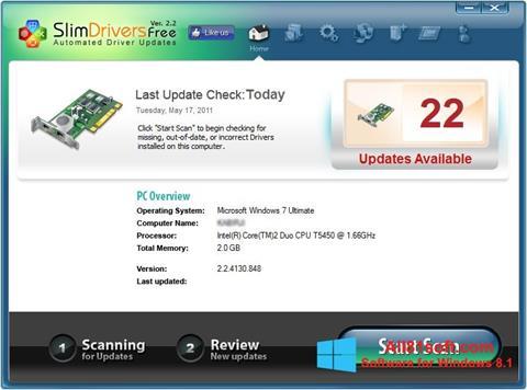 Captură de ecran SlimDrivers pentru Windows 8.1