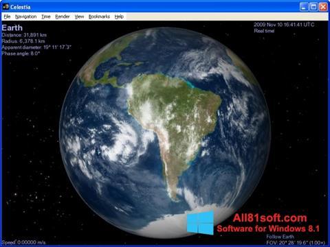Captură de ecran Celestia pentru Windows 8.1