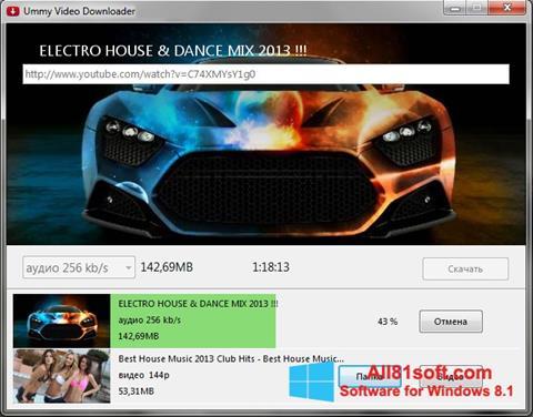 Captură de ecran Ummy Video Downloader pentru Windows 8.1