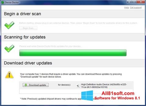 Captură de ecran Device Doctor pentru Windows 8.1
