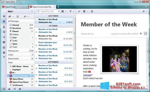 Captură de ecran Opera Mail pentru Windows 8.1