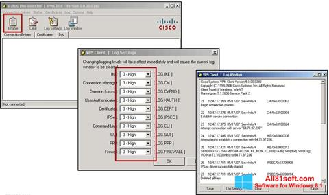 Captură de ecran Cisco VPN Client pentru Windows 8.1