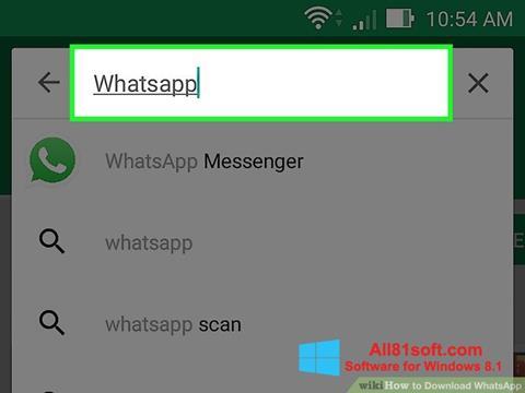 Captură de ecran WhatsApp pentru Windows 8.1