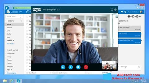 Captură de ecran Skype pentru Windows 8.1