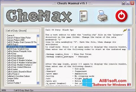 Captură de ecran CheMax pentru Windows 8.1